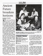 Contra Costa Times Article on Ancient Future's World Without Walls Recording and Concert Preview