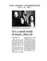 New Jersey Courier-Post It's a Small World of Music Article 6/10/93