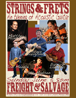 Guitar Concert at Freight and Salvage Poster