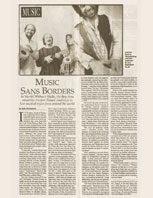 Bay Guardian Article Music Sans Borders