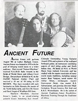 North Bay Today 7-1-91 Article on Ancient Future at Luther Burbank Center