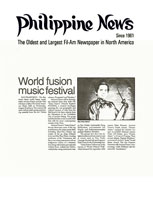 Philippine News World Fusion Music Festival Article 7-21-93
