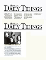 Ashland Daily Tidings Ancient Future Appears Article 7-14-94