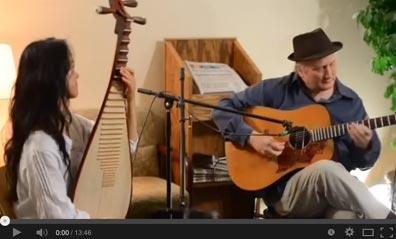 Matthew Montfort (scalloped fretboard guitar) and Shenshen Zhang (pipa)