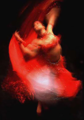 Sapphira Twirls in Red