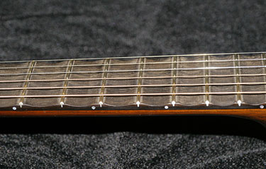 Scalloped Fretboard Detail