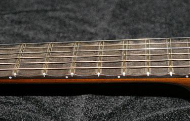 Scalloped Fretboard Detail