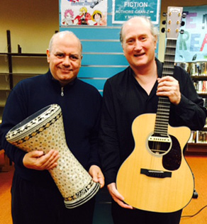 Antoine Lammam and Matthew Montfort at the Petaluma Library